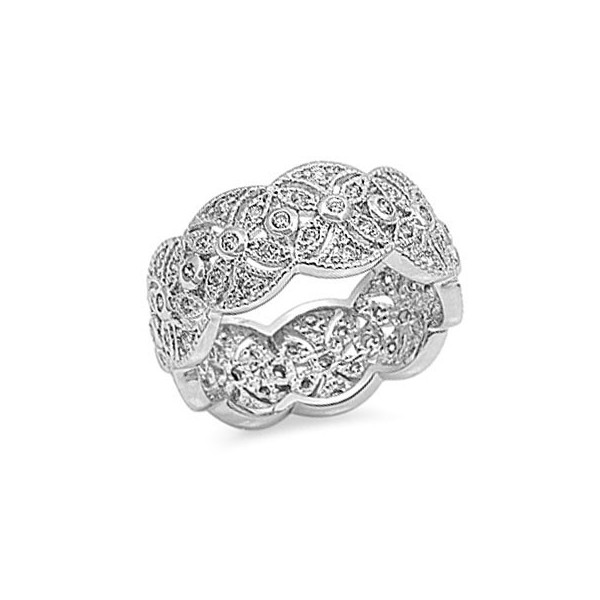 Sterling Silver Women Fashion Band Ring Claddagh King